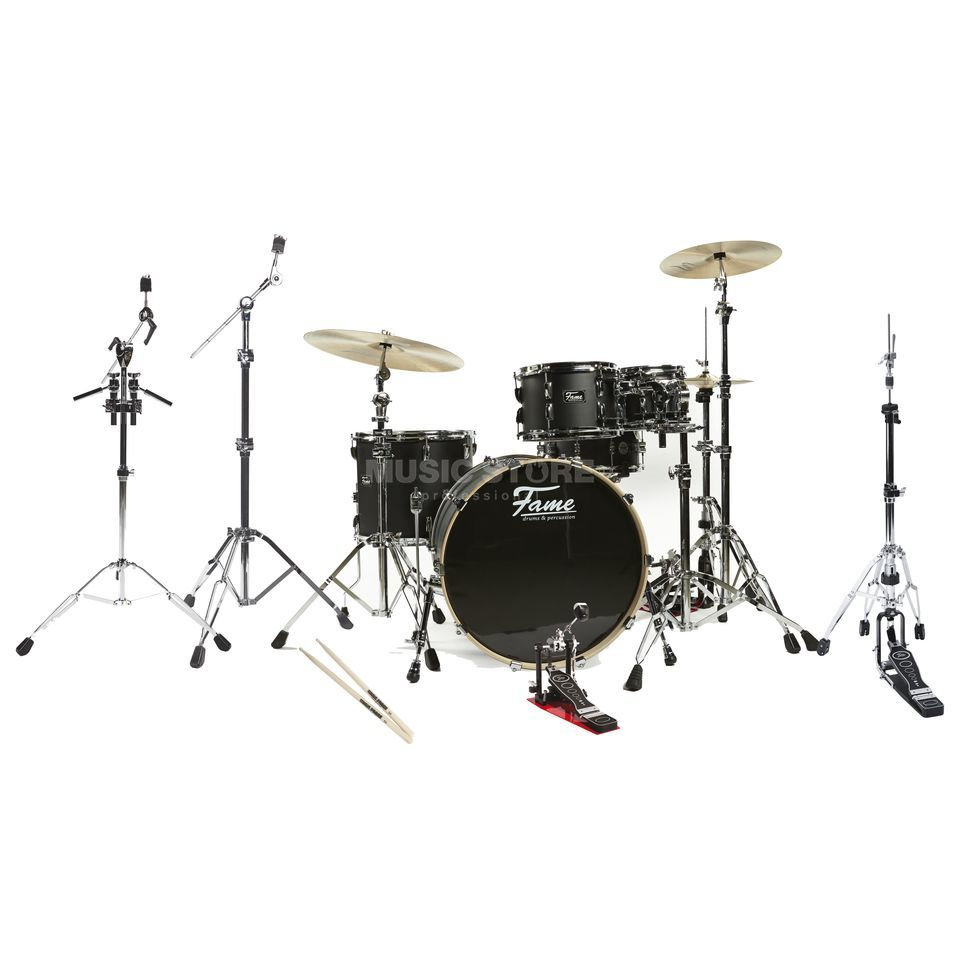 SET Fame Fire Stage DrumSet 4220, #Matte Black incl. Hardware 1 Produktbild
