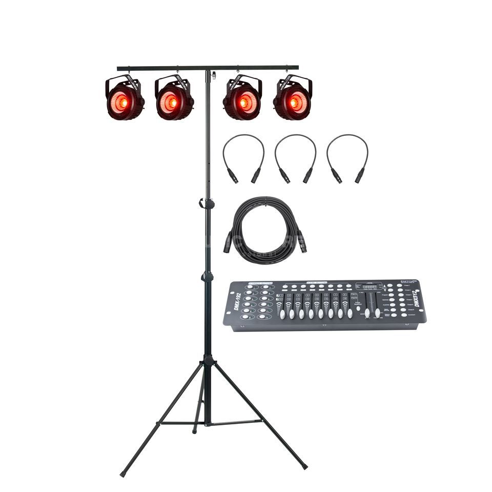 SET LED Par 56 RGB Pol. Short 10mm (4x), inkl. Case Produktbillede