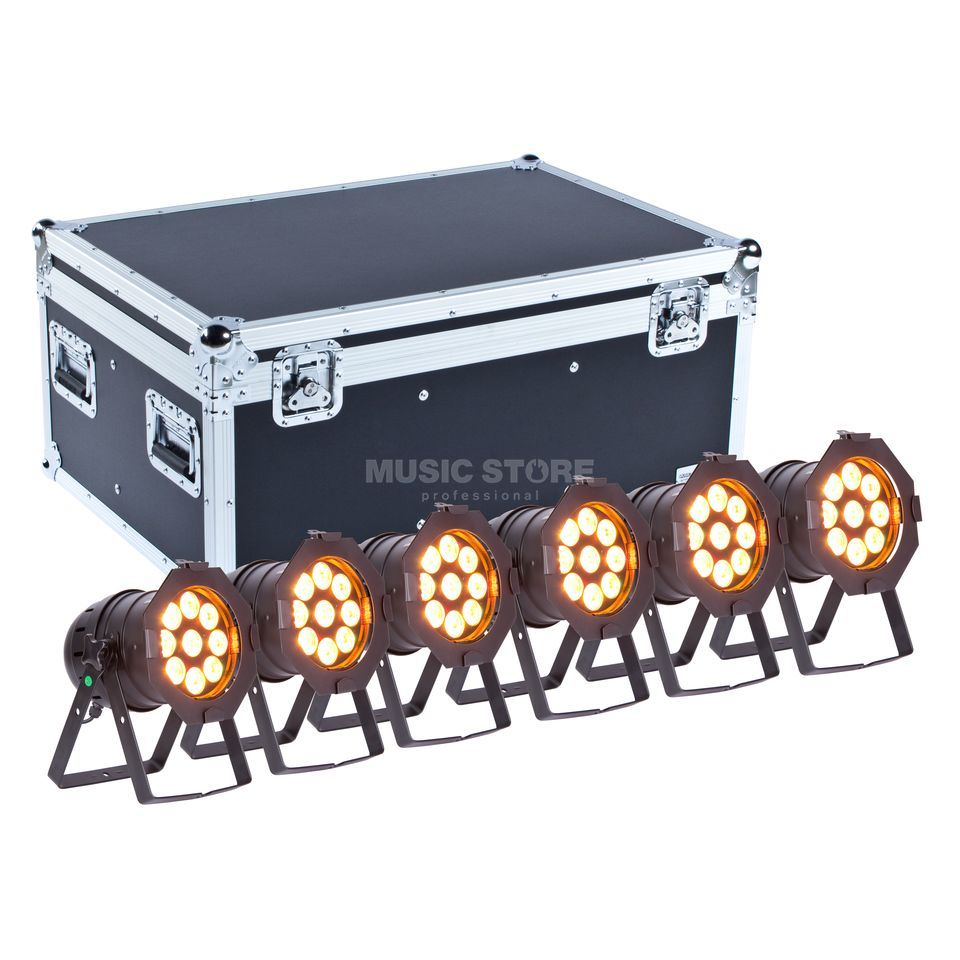 SET lightmaXX LED PAR 56 COMPLETE black  (6x) inkl. Case Produktbild