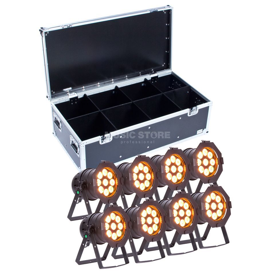 SET lightmaXX LED PAR 56 COMPLETE black  (8x) inkl. Case Produktbild