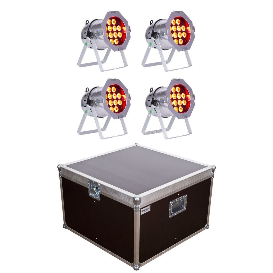SET lightmaXX LED PAR 64 COMPLETE polish (4x) inkl. Case Produktbild
