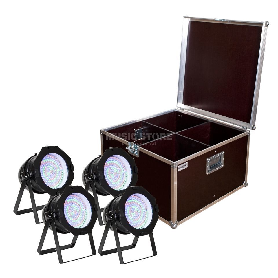 SET LightmaXX LED Par 64 RGB Black Short (4x), inkl. Case Produktbild