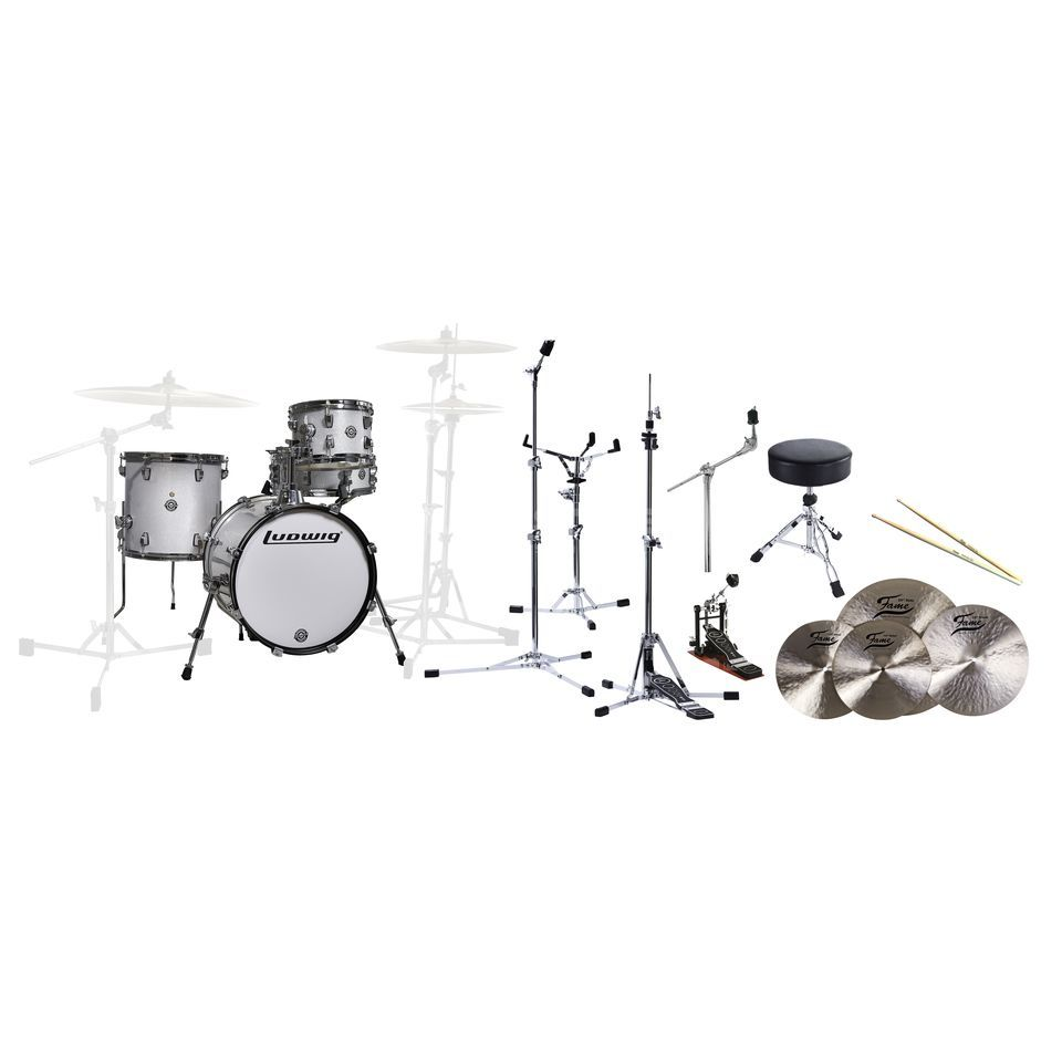 "SET Ludwig Breakbeats ""All In One"" White Sparkle Bundle Produktbild"