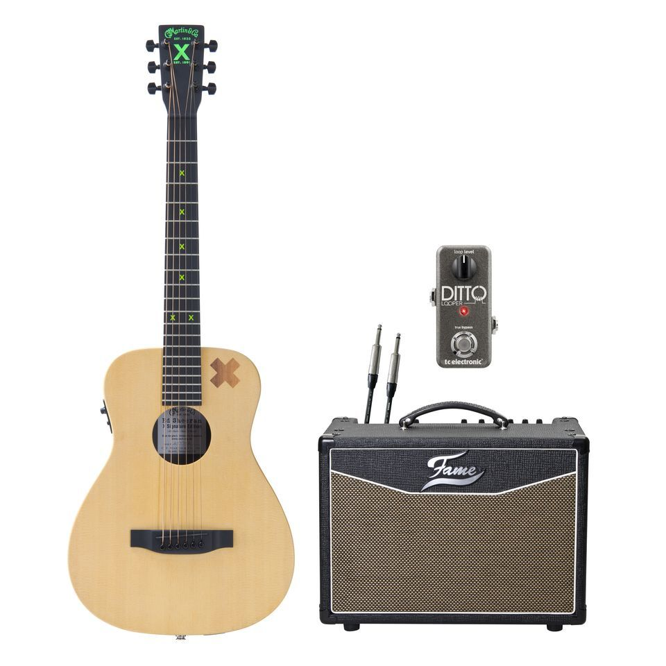 SET Martin LX Ed Sheeran 2 + Ditto Looper + Fame Senior Acoustic Produktbild
