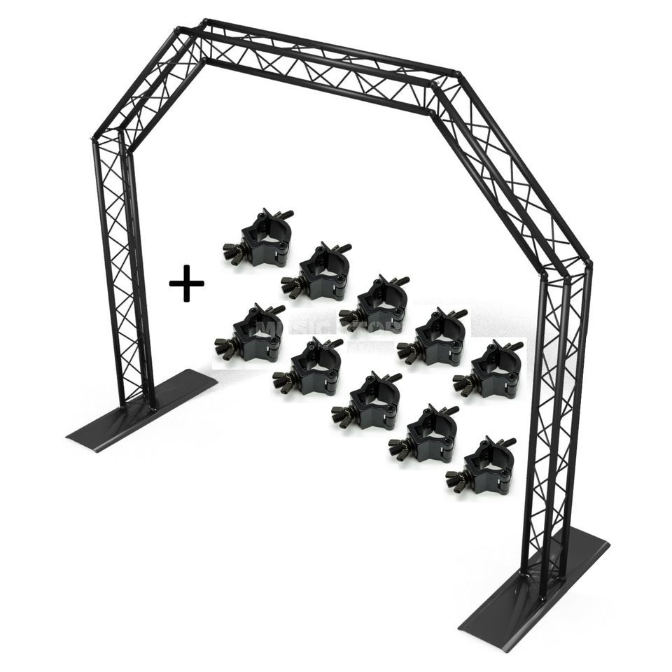 SET MOBILE DJ TRUSS GATE black +10x Half Coupler Produktbillede