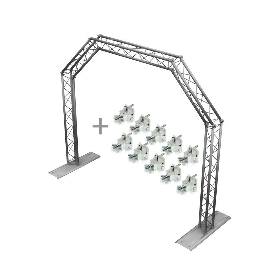 SET MOBILE DJ TRUSS GATE silver +10x Half Coupler Produktbillede