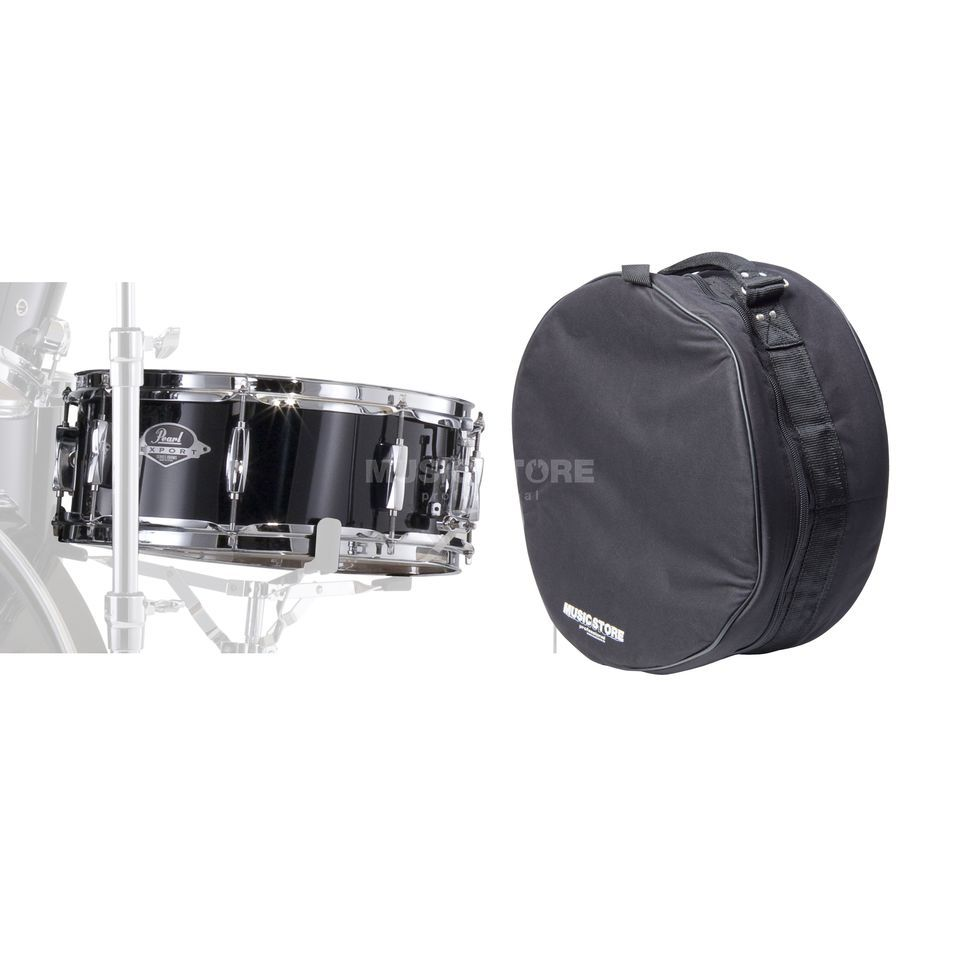 "SET Pearl Export SnareDrum 14""x5,5"", incl. Bag, Jet Black Produktbillede"