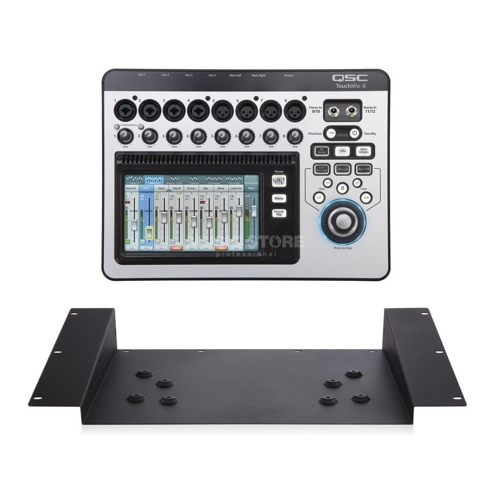 SET QSC TouchMix-8 Digitalmixer inkl. TMR-1 Rack Mount Kit Produktbillede
