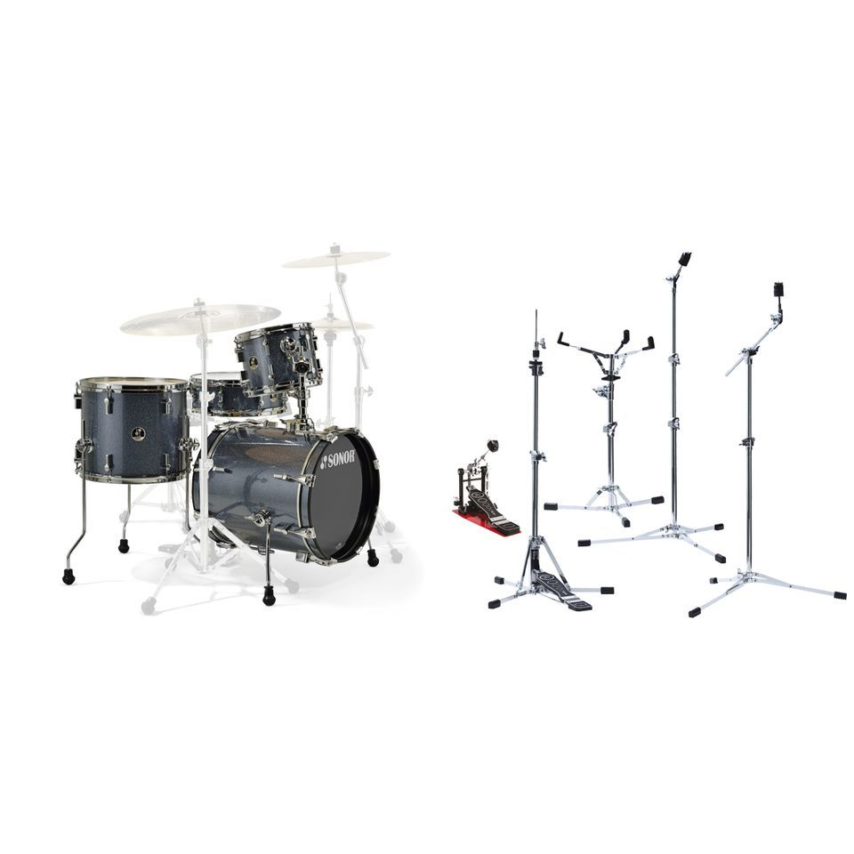 SET SONOR Safari Black inkl. Flat Base Hardware Produktbild