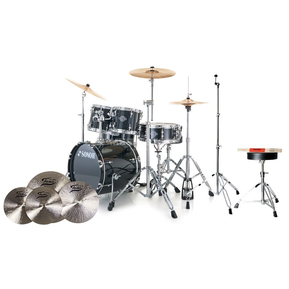 SET SONOR Smart Force Stage 2 #BK + B20 Becken, Hocker & Sticks Produktbillede