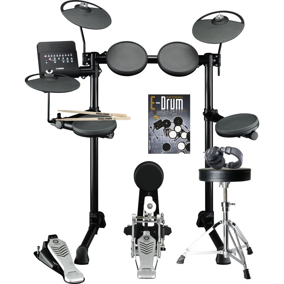 SET YAMAHA DTX430K E-Drum Bundle, inkl. Hocker, Kopfh. & Noten Produktbild