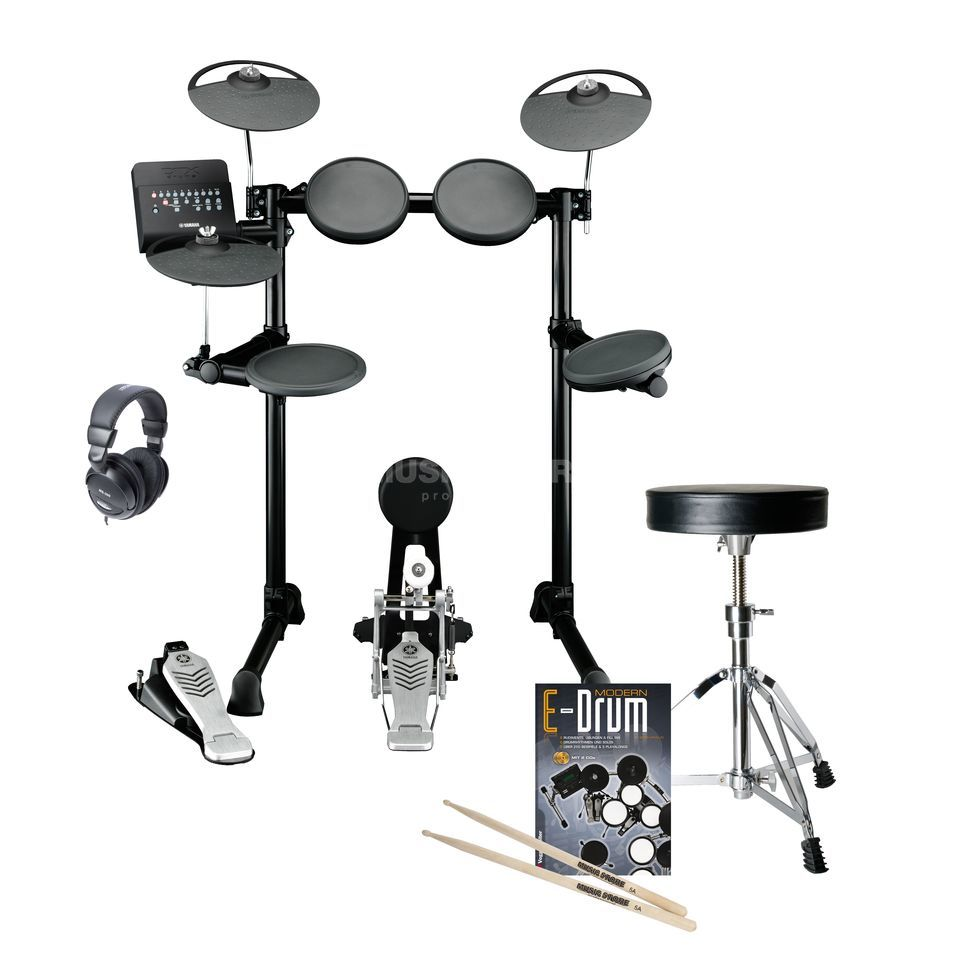 SET YAMAHA DTX450K E-Drum Bundle, inkl. Hocker, Kopfh. & Noten Produktbillede