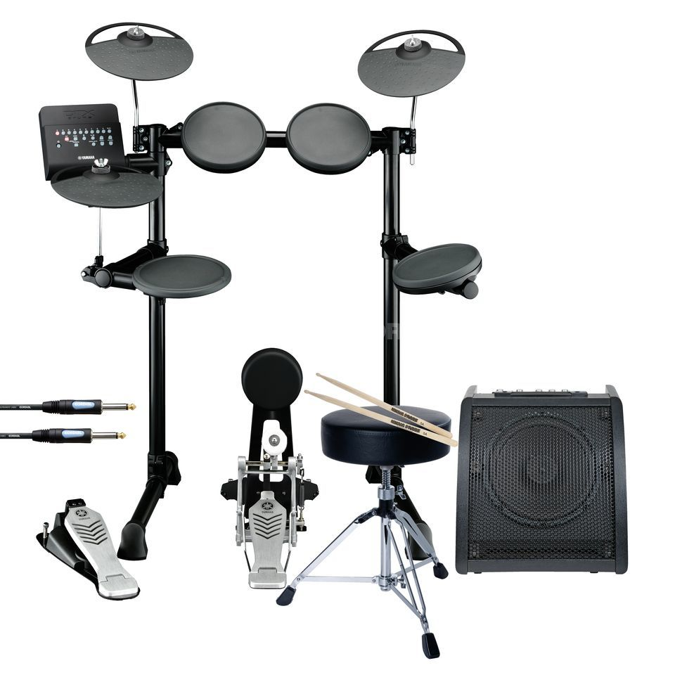 SET YAMAHA DTX450K E-DrumSet inkl. Hocker, Monitor & Sticks Produktbild