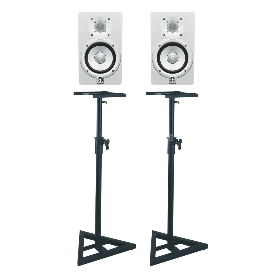 SET Yamaha HS7 white + DB 039 SET Monitor + Stands Produktbillede
