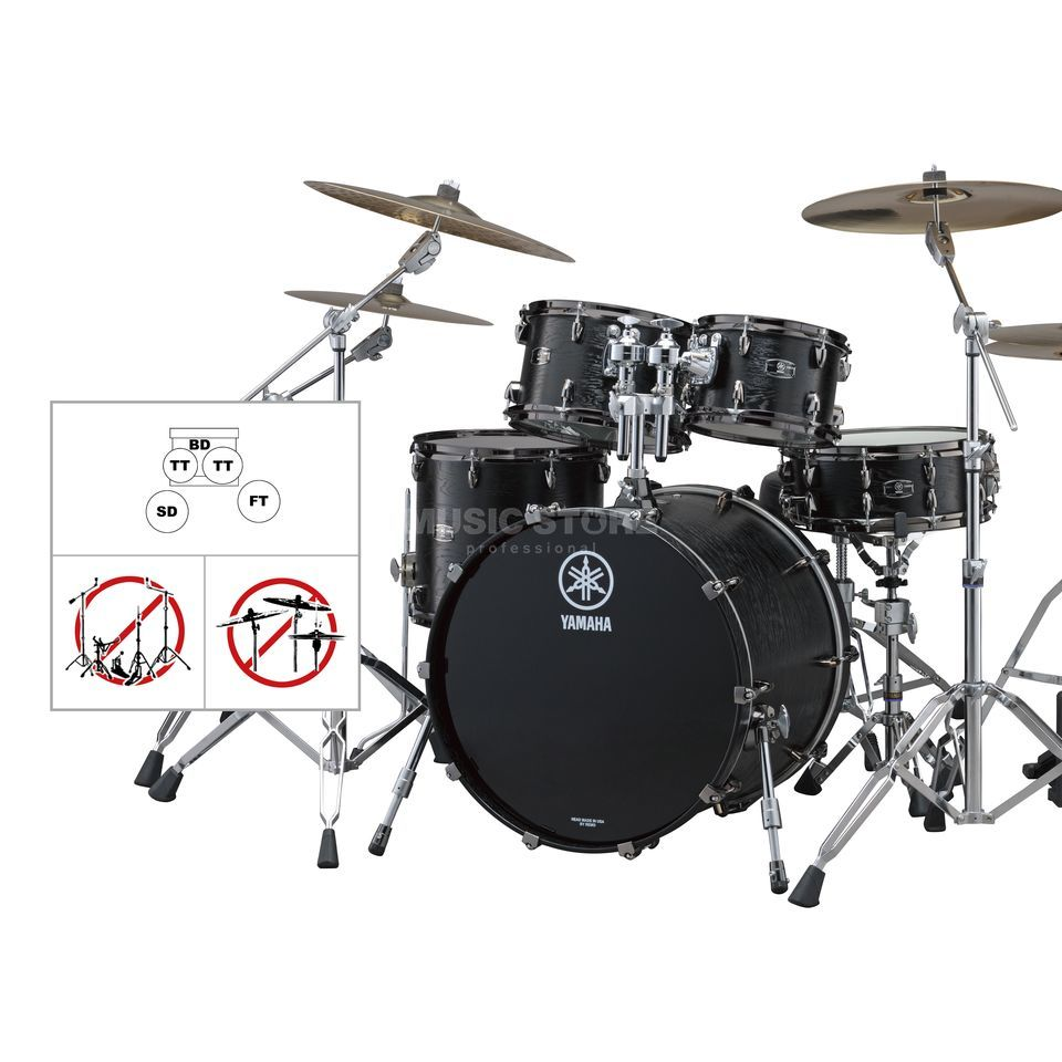 SET YAMAHA Live Custom Studio, Black Wood #BKW Produktbillede