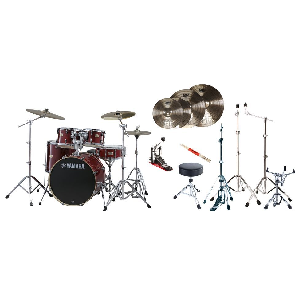 SET Yamaha Stage Custom Birch Meinl MB8 All-Inclusive Bundle Produktbillede