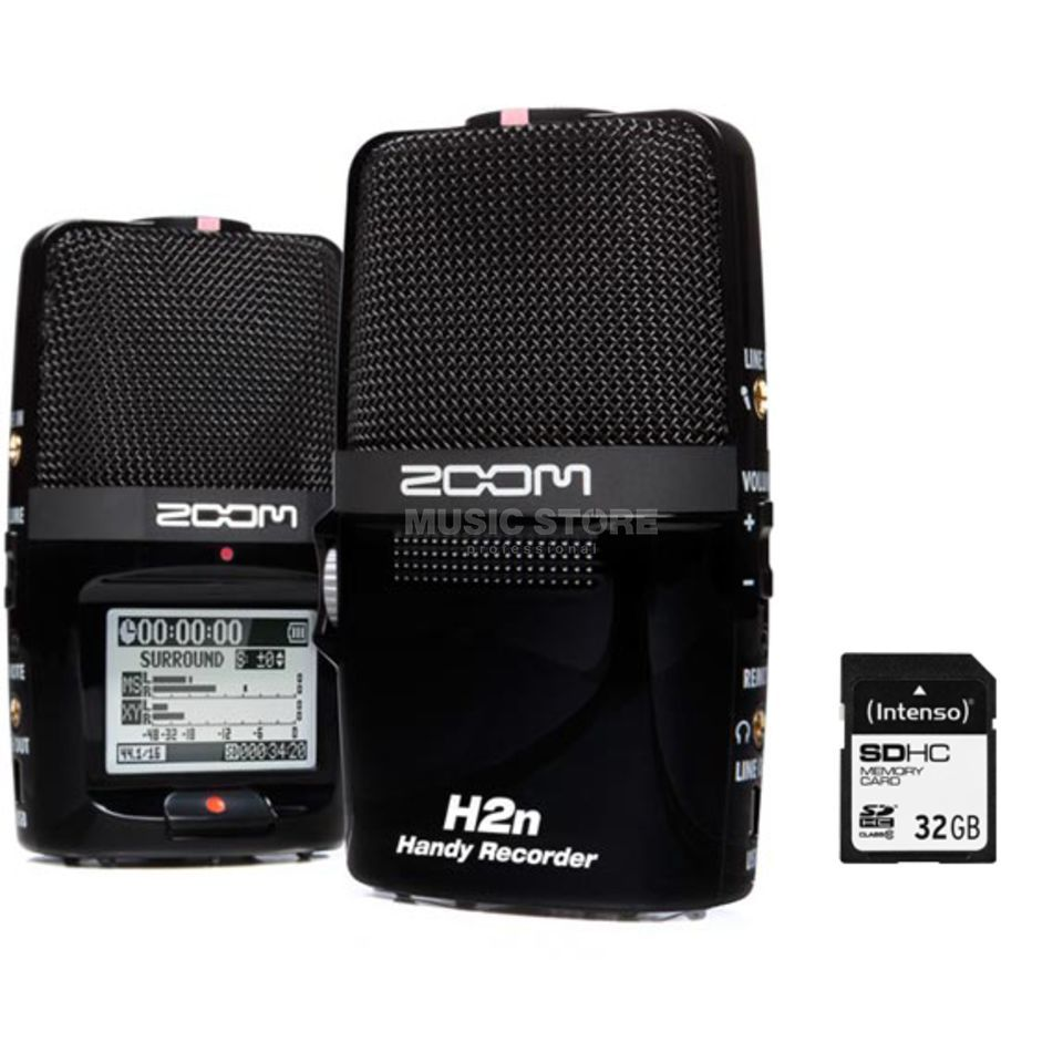 SET Zoom H2n + SD 32 GB SD Karte  Produktbild