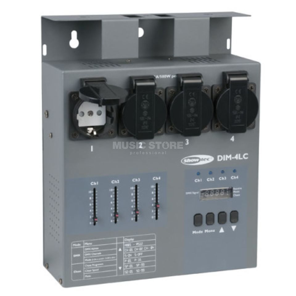 Showtec DIM-4LC 4 Ch. Dimmerpack 3A per Channel Product Image