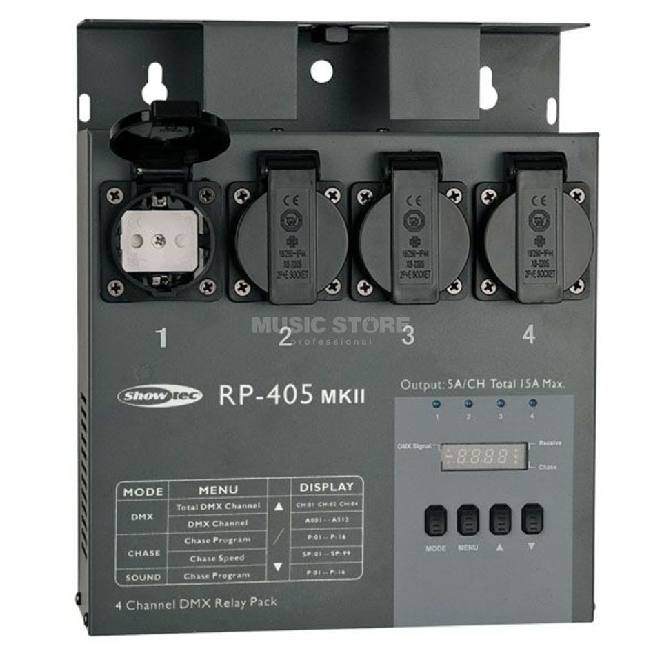 Showtec RP 405 MK II Relay Pack Switch-Pack für LED Effekte Produktbild