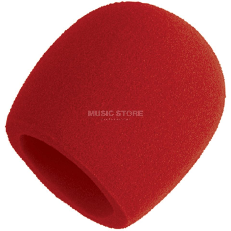 Shure A58WS-Red Windshield in Red    Produktbillede