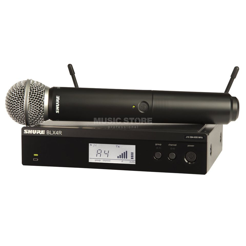 Shure BLX24RE/SM58 S8, 823-832MHz Wireless Handheld System Produktbillede