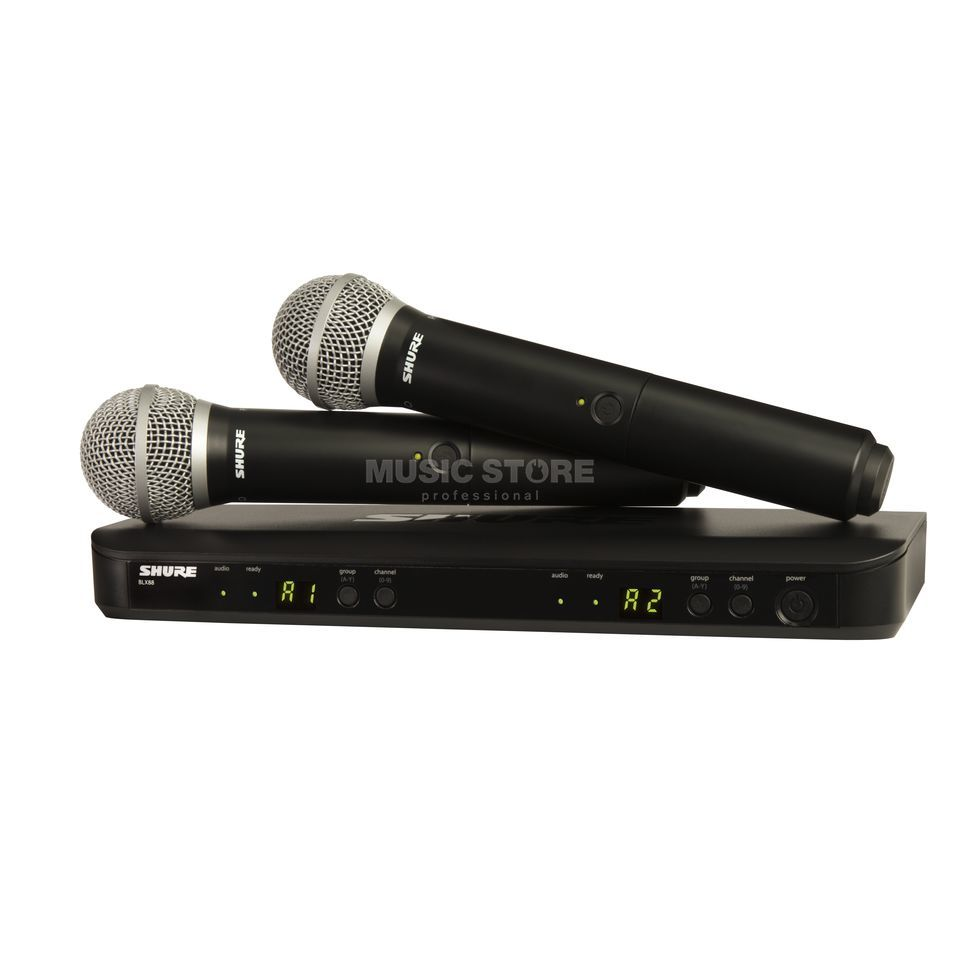 Shure BLX288E/PG58 S8, 823-832MHz Wireless Dual Handheld System Produktbillede