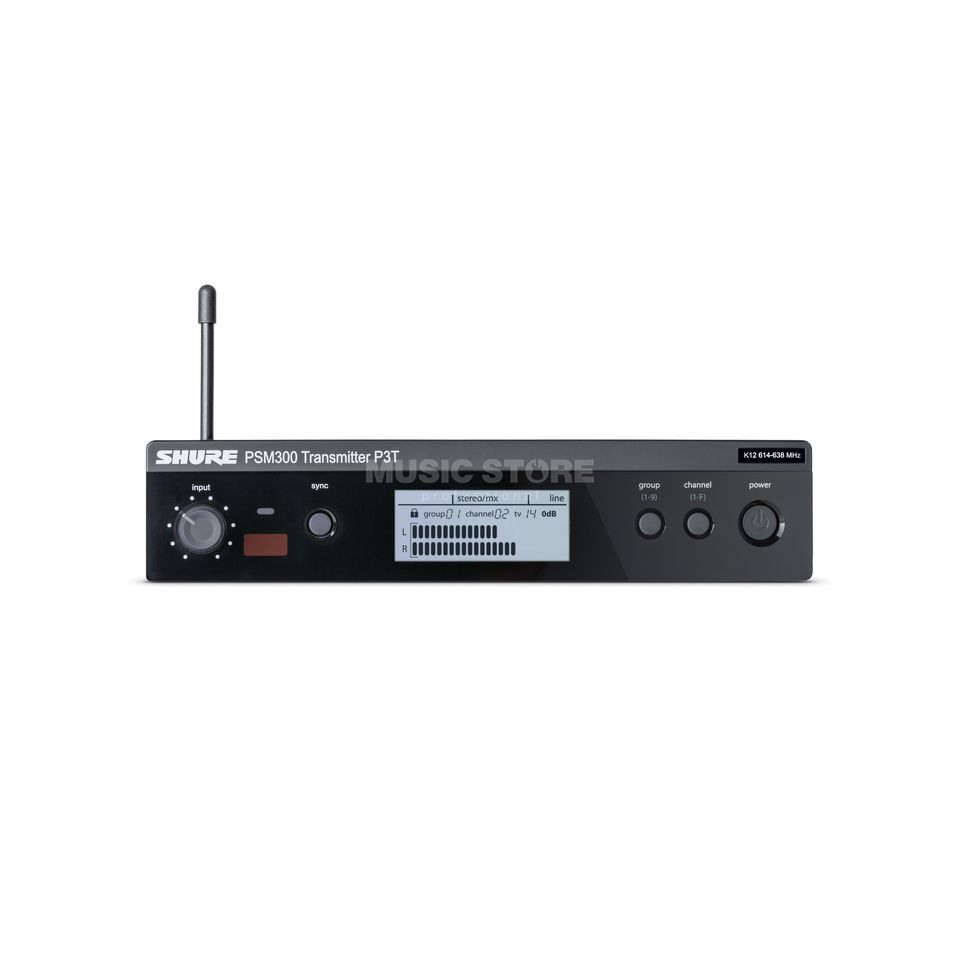 Shure PSM 300 P3TR System, S8 with Pocket reciever Plastic Product Image