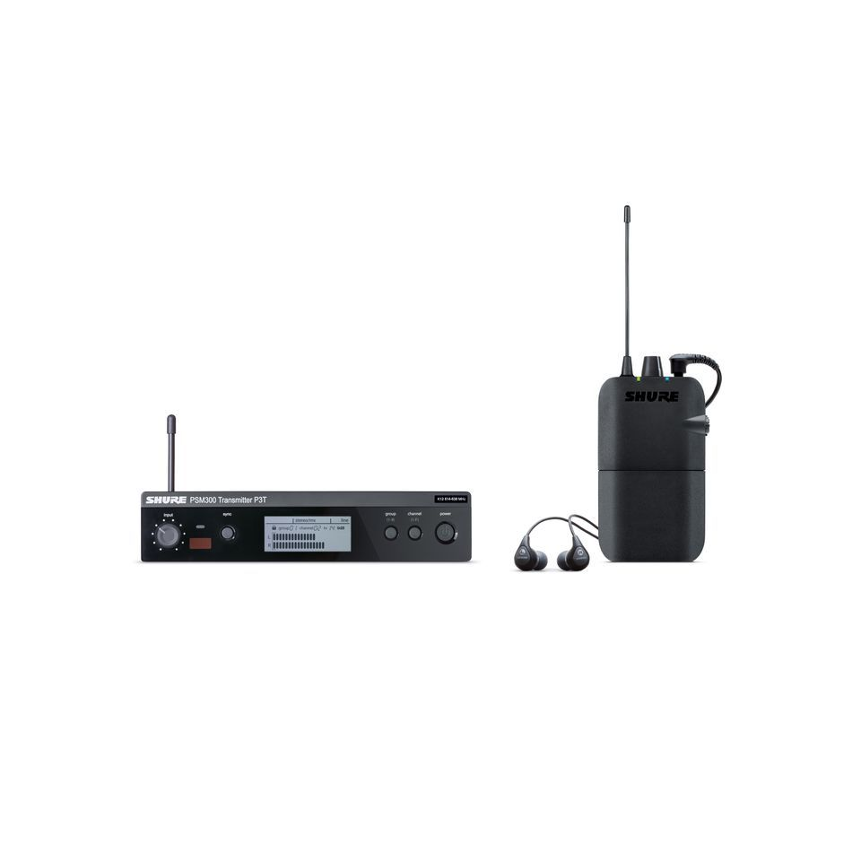 Shure PSM 300 System P3TR112GR, S8 with Plastic Reciever+SE112 Produktbillede