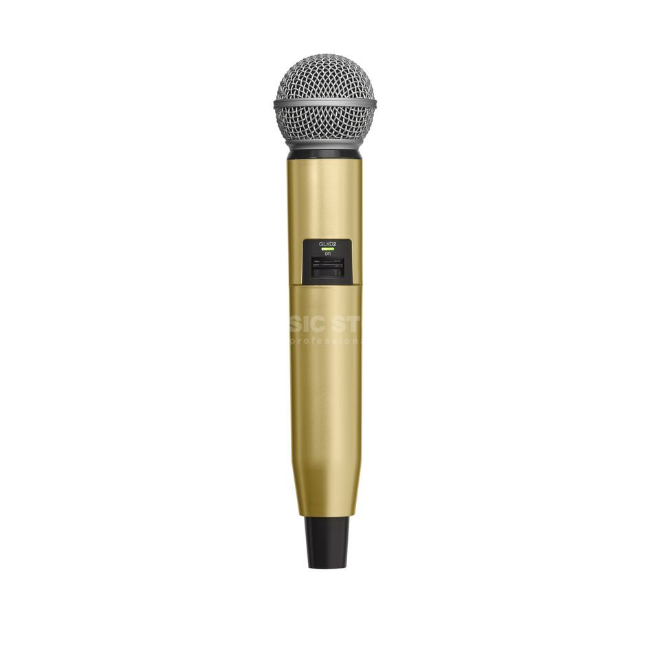 Shure WA723 Colour Housing Gold for GLXD2/SM58, GLXD2/Beta58A Produktbillede