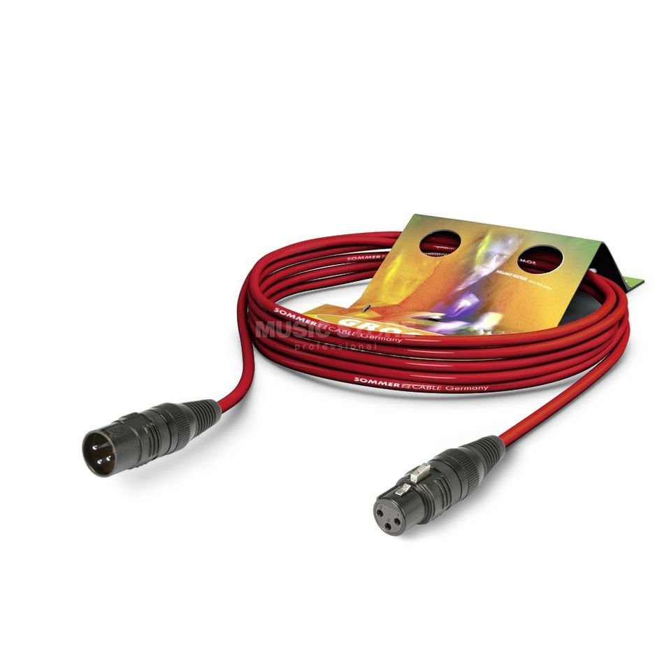 Sommer Cable Mikrofonkabel SC-STAGE 3m rot HICON, SGCE-0300 RT Produktbild