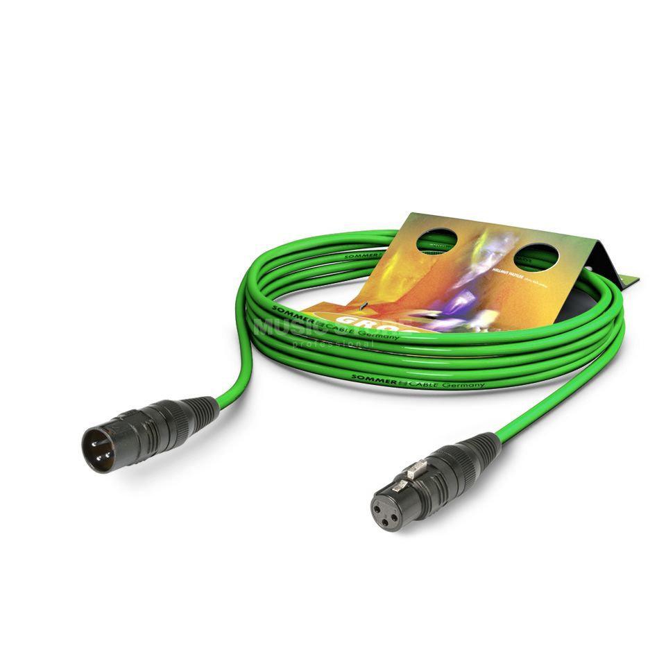 Sommer Cable SGCE-0300 GN Microphone Cable 3m green, HICON Produktbillede