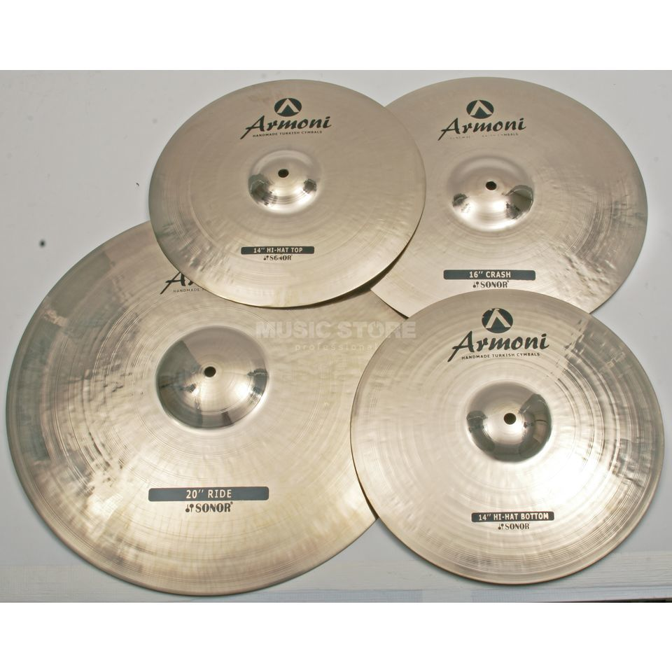 "Sonor Armoni Cymbal Set AC Set 1, 16""Crash,20""Ride,14""HiHat+Bag Produktbillede"