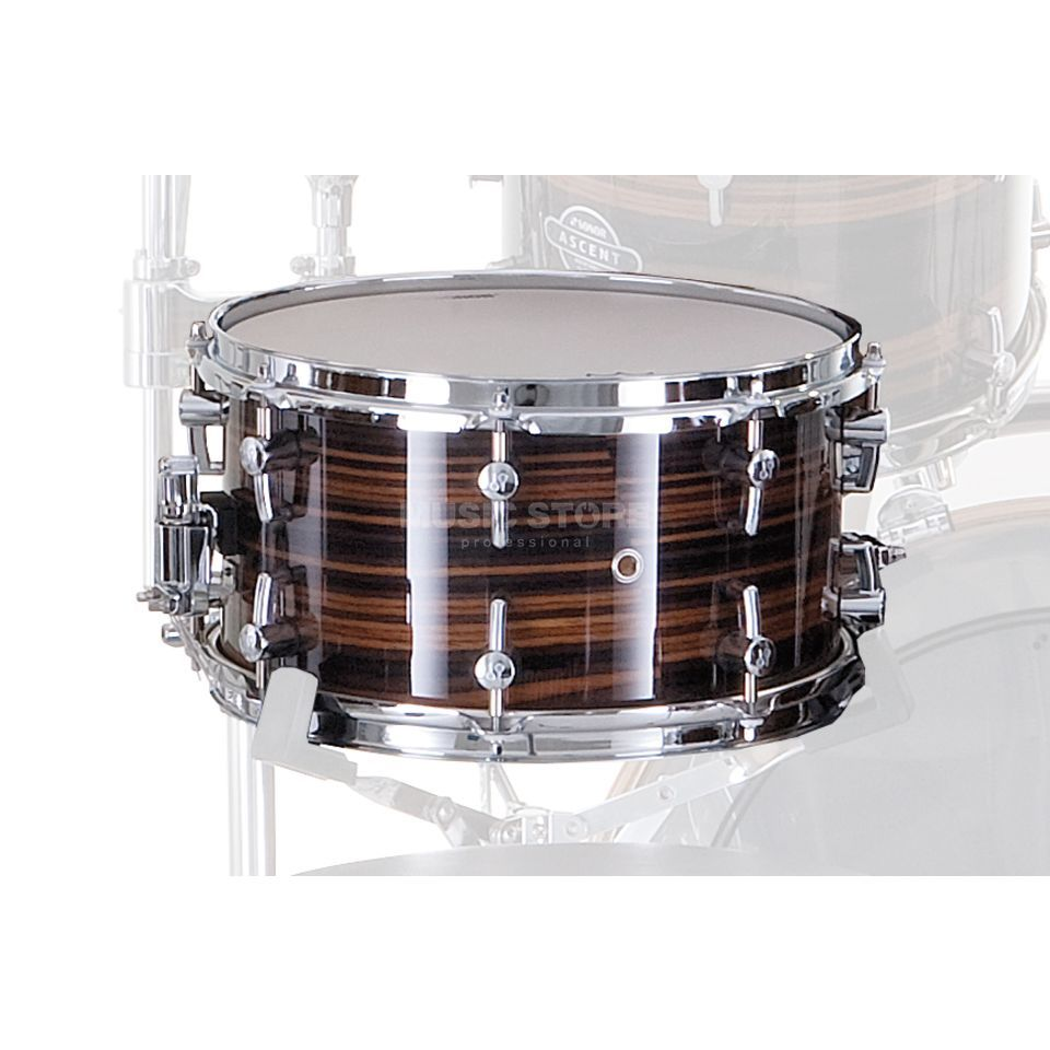 "Sonor Ascent Snare 14""x6.5"", Ebony Stripes #28 Produktbillede"