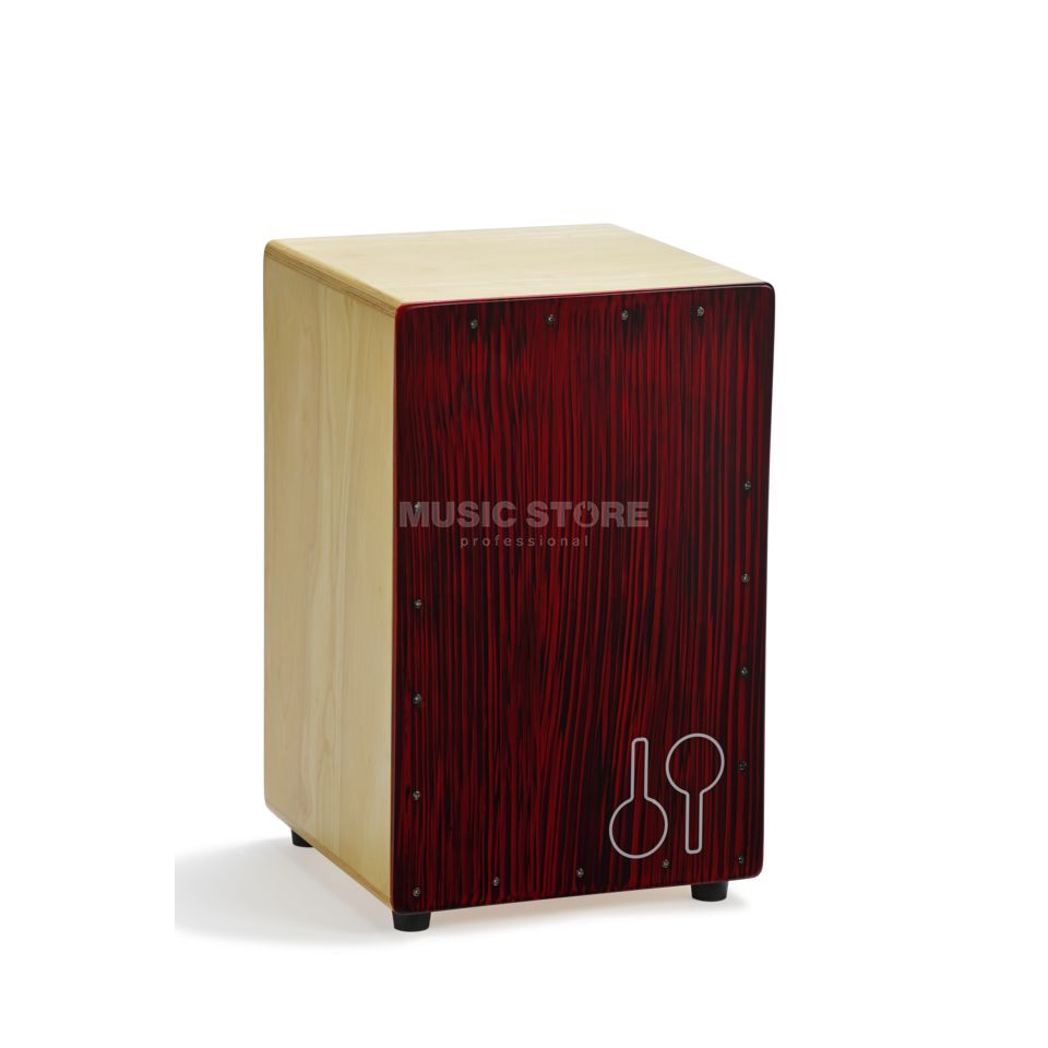 Sonor Cajon Mosquito CAJ RBS, Red Black Stripes Product Image