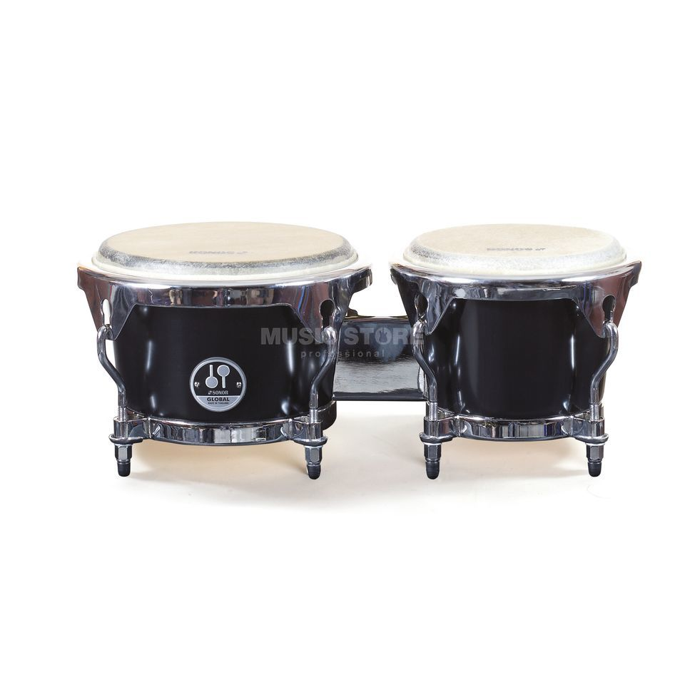 "Sonor Global Bongos GBF 7850 BM, 7""+8 1/2"", Black Produktbild"