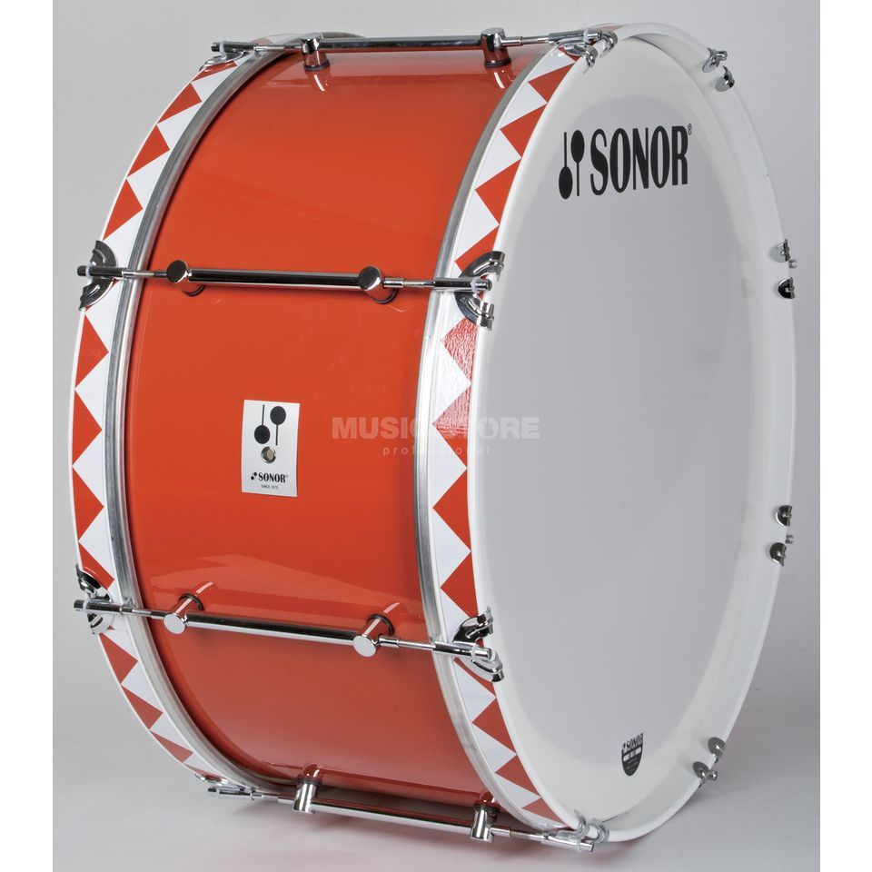 "Sonor Marching BassDrum MB2612CR, 26""x12"",B-Line Serie,white/red Produktbild"