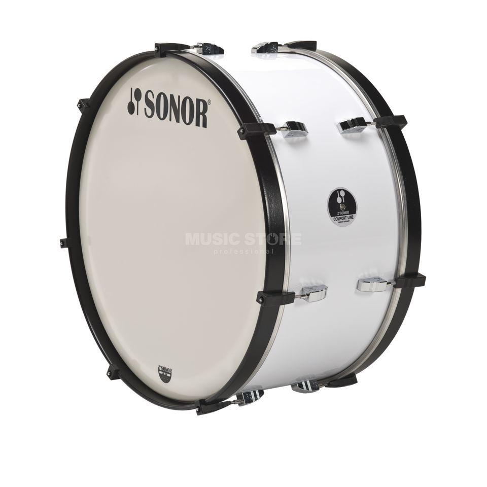 "Sonor Marching BassDrum MC 2614 CW 26""x14"", Comfort-Line, White Produktbillede"