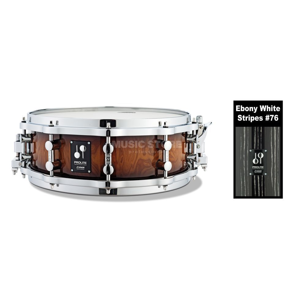 "Sonor ProLite Snare PL 12 1405 SDWD, 14""x5"", Ebony White Stripes Produktbild"