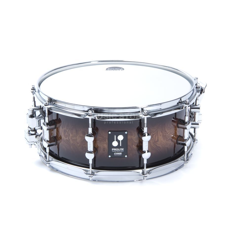 "Sonor ProLite Snare PL 12 1406 SDW, 14""x6"", Walnut Brown Burst #88 Produktbillede"
