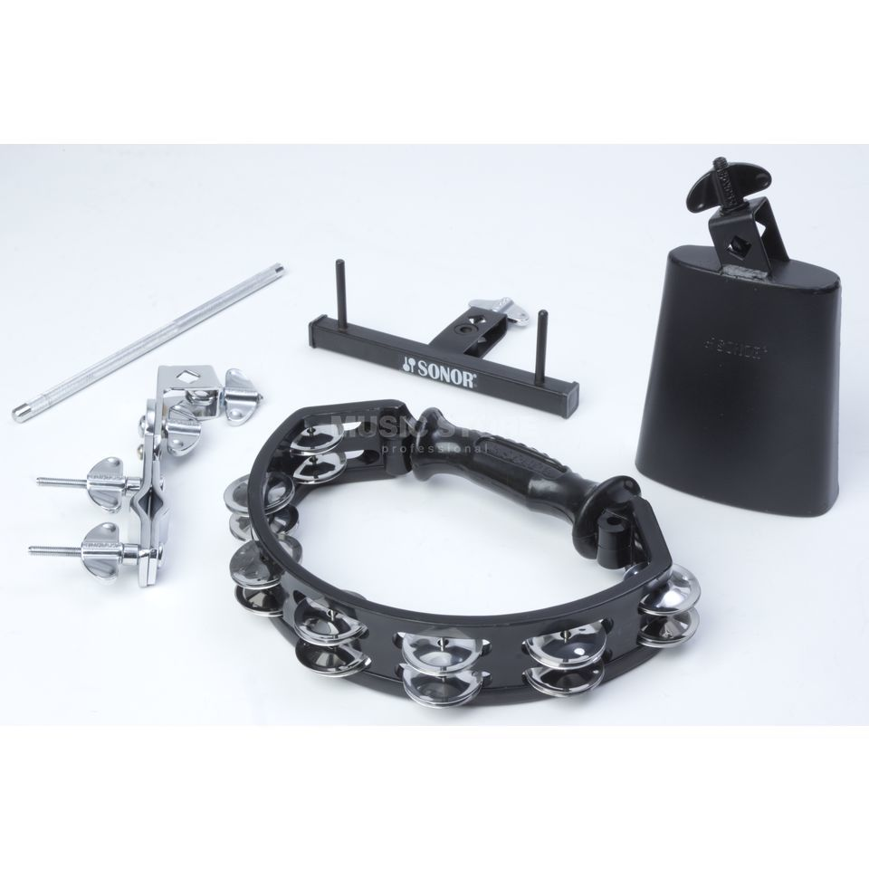 Sonor RHYTHM Add-on pakketage Cowbell, Tambourine, Holders Productafbeelding