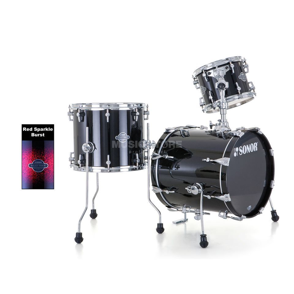 Sonor Select Force Jungle ShellSet, Red Sparkle Burst, Black HW Product Image