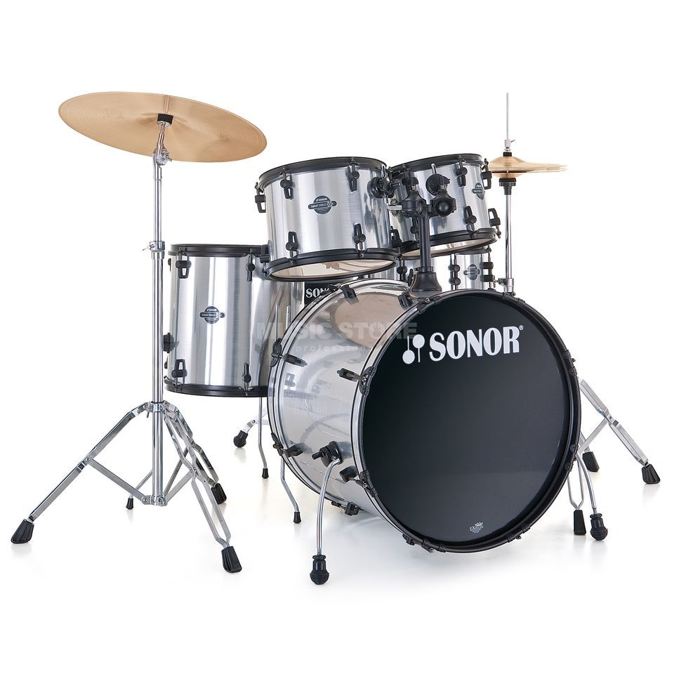 Sonor Smart Force Stage 2, Brushed Chrome #18, Black HW Produktbillede