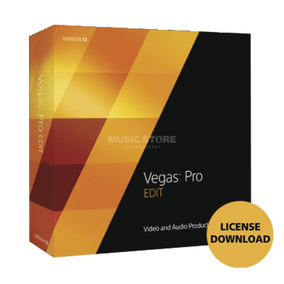 Sony VEGAS Pro 14 EDIT License Code | MUSIC STORE professional | pt-PT