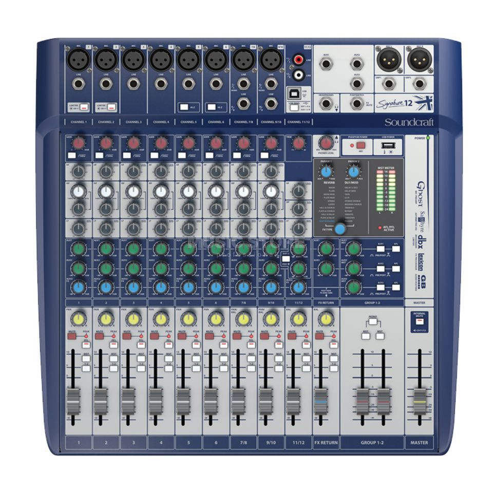 Soundcraft Signature 12 mixer incl.Ableton LiveLite Software Productafbeelding