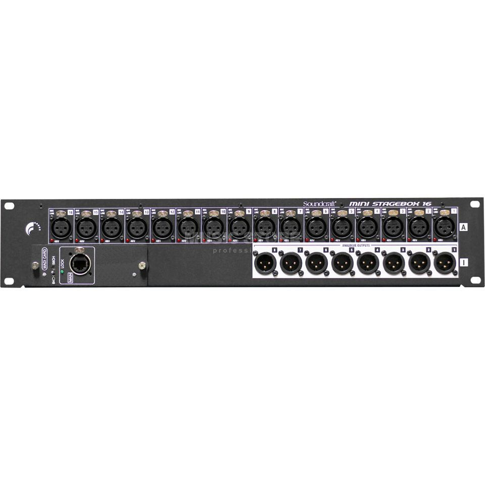 Soundcraft SiMSB16 Mini Stagebox 16 RJ45 16 In, 8 Out (incl. MADI/USB) Produktbild
