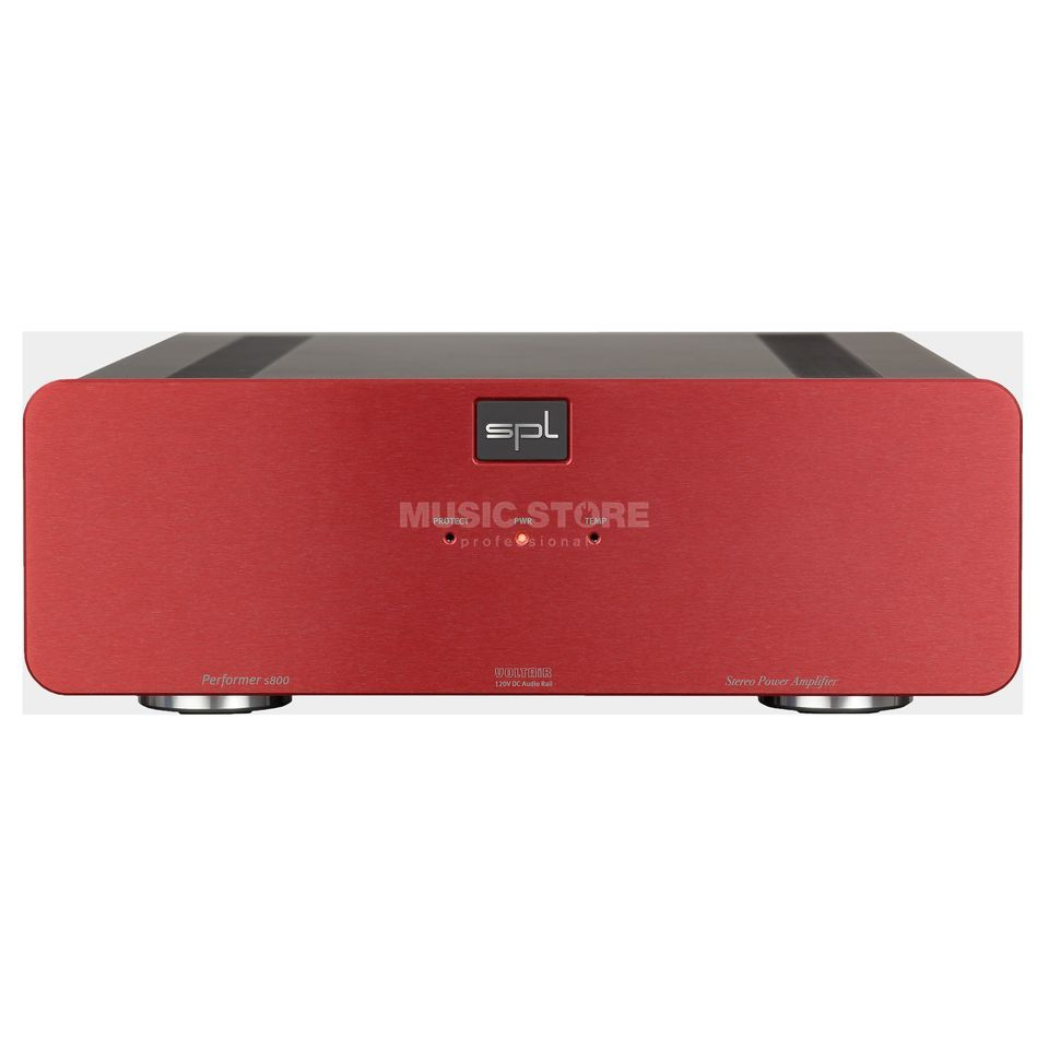 SPL Electronics Pro-Fi Performer S800 red High-End Stereo Endstufe Produktbild