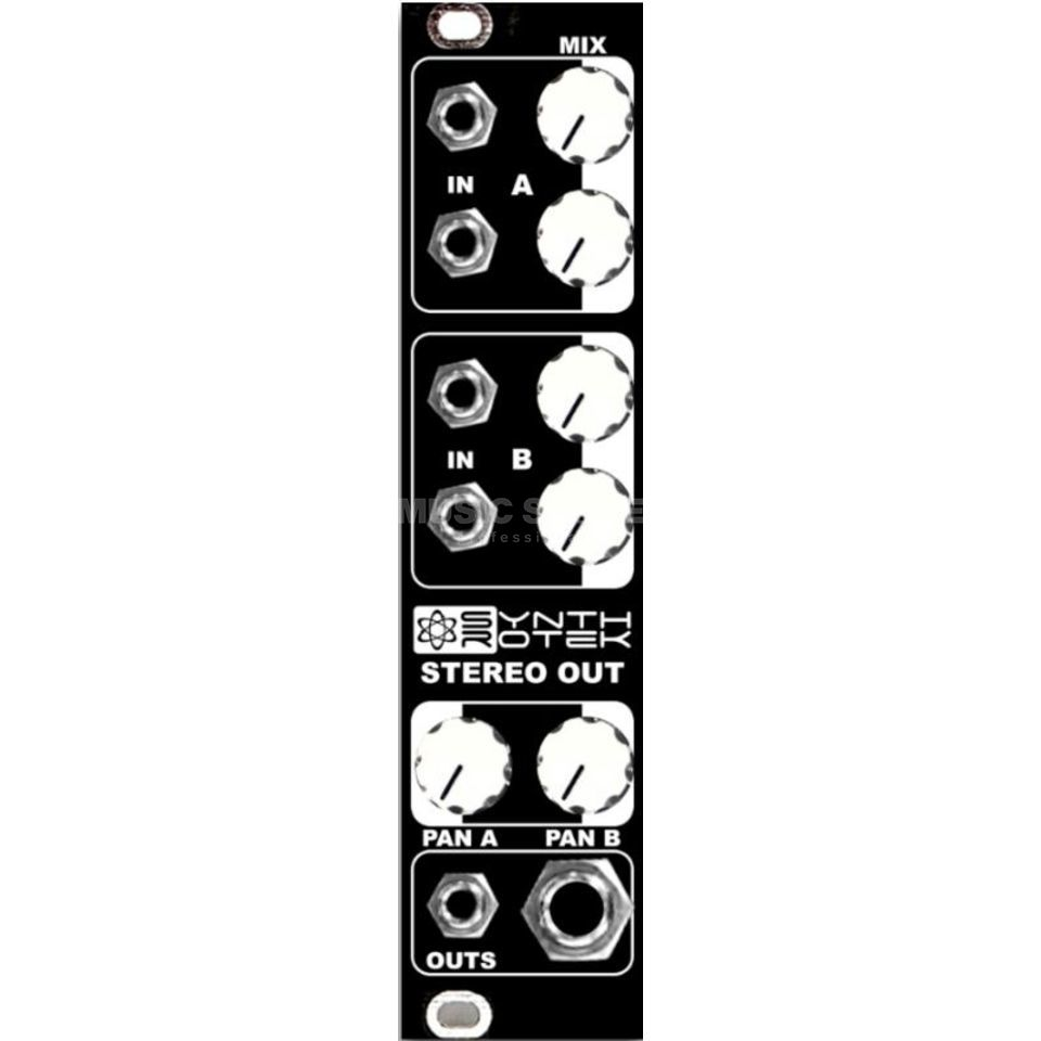 Synthrotek MST Stereo Output Mixer Black Panel Produktbild