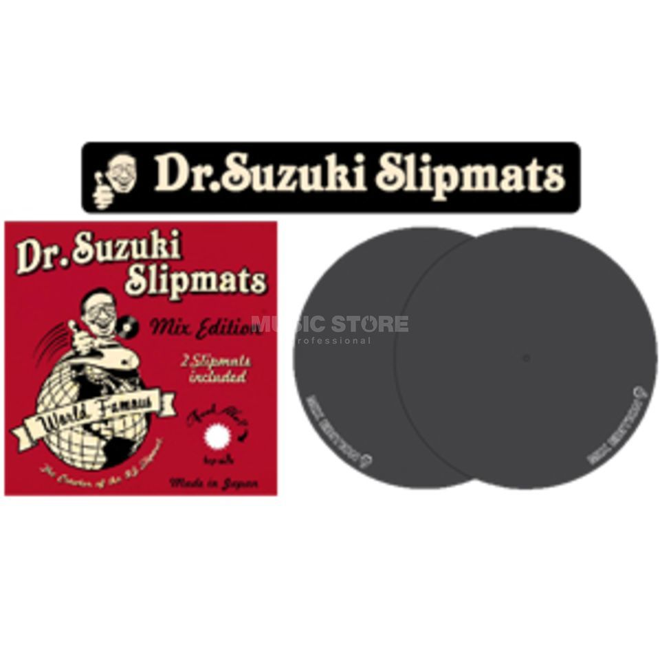 Tablecloth Dr.Suzuki Mix Edition Slipmats black (pair) Immagine prodotto