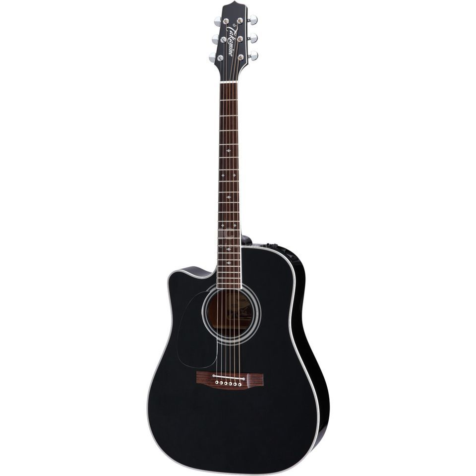 Takamine EF341SC-LH Lefthand Gloss Black Productafbeelding