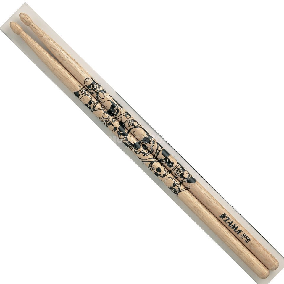 "Tama 5A Sticks O5A-S ""Skull"", natural, black print Product Image"